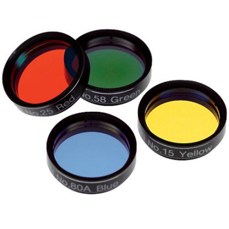 Set Of 4 Colored Filters From 1,25In